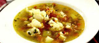 Supa de conopida cu smantana si galuste de carne