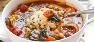Garden Vegetable Lasagna Soup front