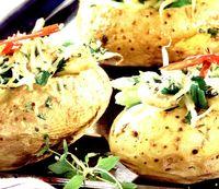 Stuffed potatoes (cartofi umpluti)