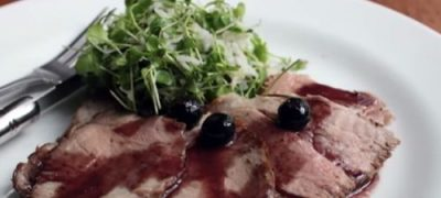 How to Make Pork Roast with Blueberry Port Sauce