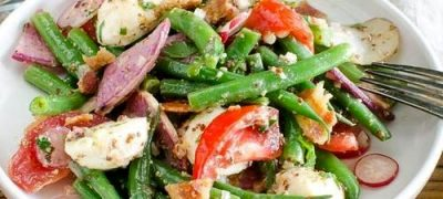 Salata de fasole verde cu usturoi si patrunjel