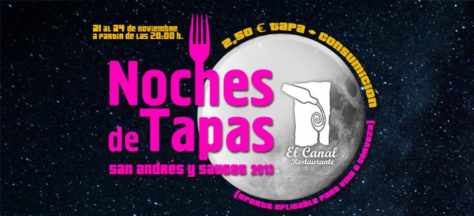 Noche de Tapas 2013 · Restaurante El Canal ·San Andrés y Sauces
