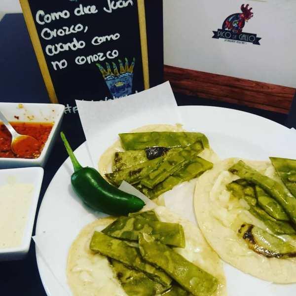 Tacosdenopales Nopales con Queso