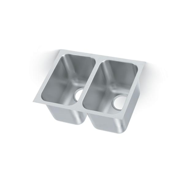 weld in undermount sink two compartment 14 w x 12 d x 9 3 4 deep restaurant equipment solutions