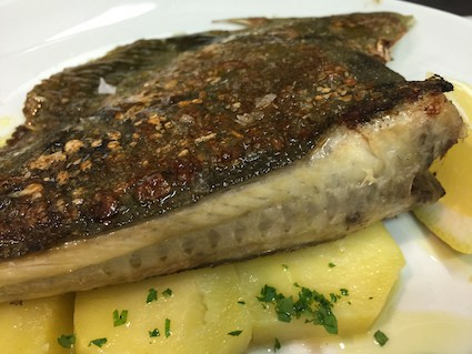 Grilled turbot