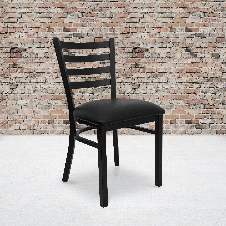 Metal Ladder Back Chair Bfdh Dg694blad Restaurantfurniture4less Com