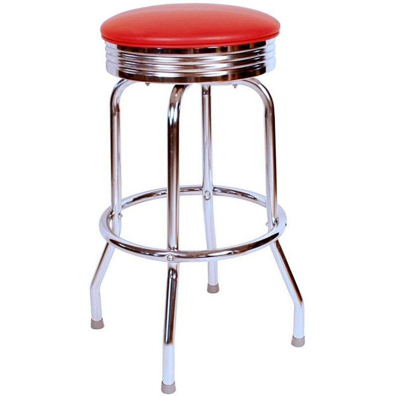 Red Vinyl Swivel Barstool 0 19715red24 Restaurantfurniture4less Com