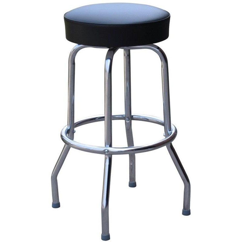 Black Vinyl Swivel Barstool 0 1950blk24 Restaurantfurniture4less Com