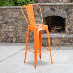 30 Orange Metal Outdoor Stool Ch 31320 30gb Or Gg Restaurantfurniture4less Com