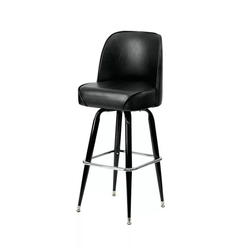 Bucket Seat Oval Bar Stool