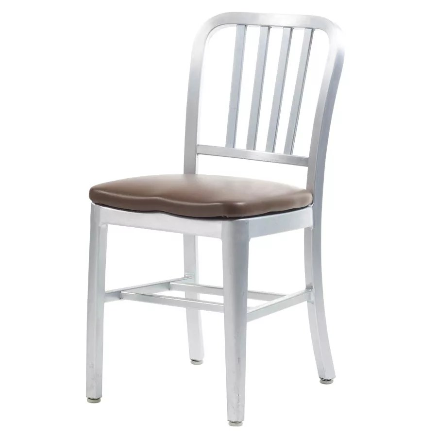 Aluminum Dining Chair With Upholstered Seat Restaurant