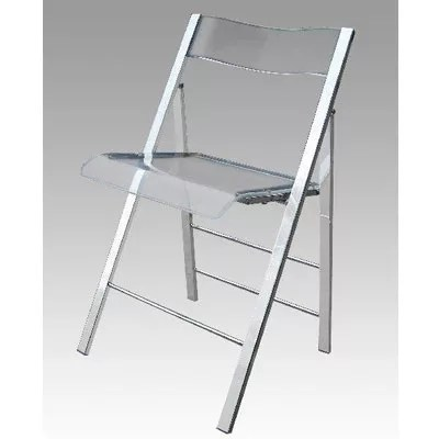 Clear Lucite Folding Chair