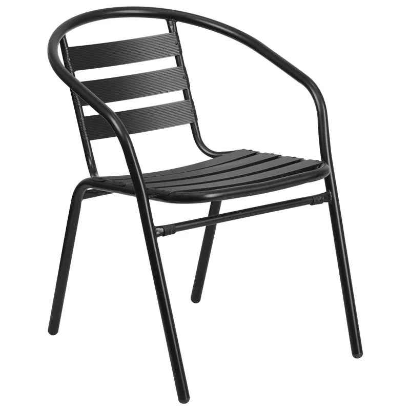 restaurant stackable metal slat chair restaurant furniture warehouse