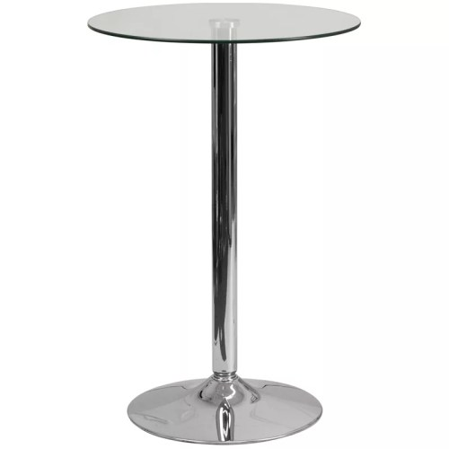 Round Glass Cocktail Table in 23.75""