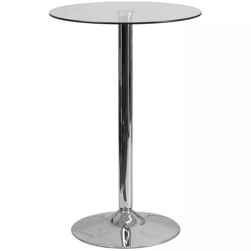 Round Glass Cocktail Table In 23 75 Restaurant