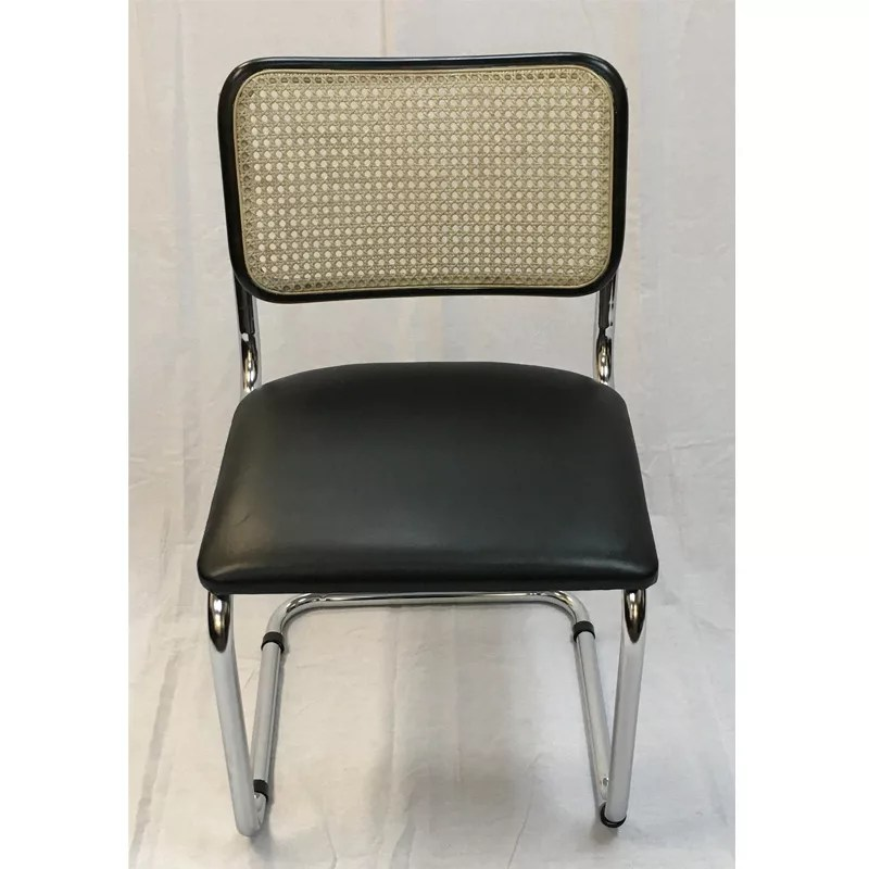 Home / Shop / Restaurant Dining Chairs / Breuer Metal Chair With Cane Back  And Uph Seat