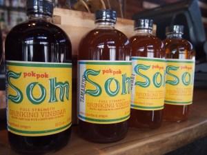 Alcohol free Drinking Vinegars are the star of the bar at Pok Pok Ny.