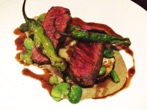 Hanger Steak with Shishito Peppers
