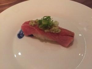 Bluefin Toro  & Wasabi Nigiri