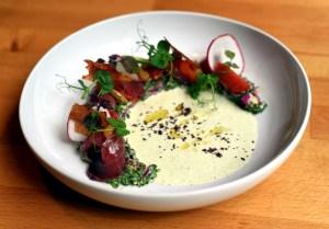 Timna Mediterranean Sashimi lo by Michael Tulipan
