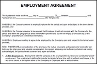 An employment agreement is a legal contract that is signed by the employer and. Employment Agreement Template