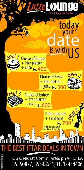 Latte lounge iftar menu