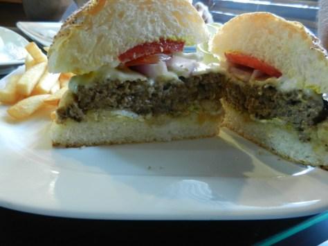 Gourmet classic burger uncut