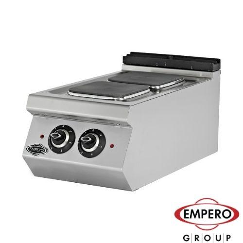 Elektrisk koketopp med 2 firkant plater Empero EMP.7KE010-K