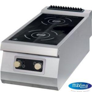 Induksjonskoketopp - Kokeplate Maxima Premium - 2 soner