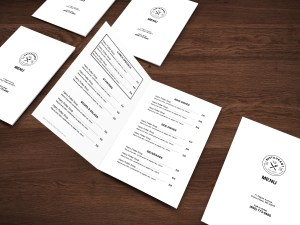 Easy to customize bifold restaurant menu template - ASBA Creative Studio