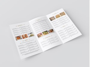 restaurant to go menu template - trifold