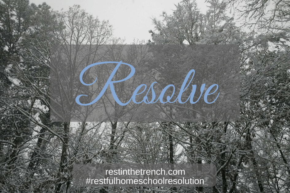 One step in your commitment to seek Jesus first for a restful homeschool.