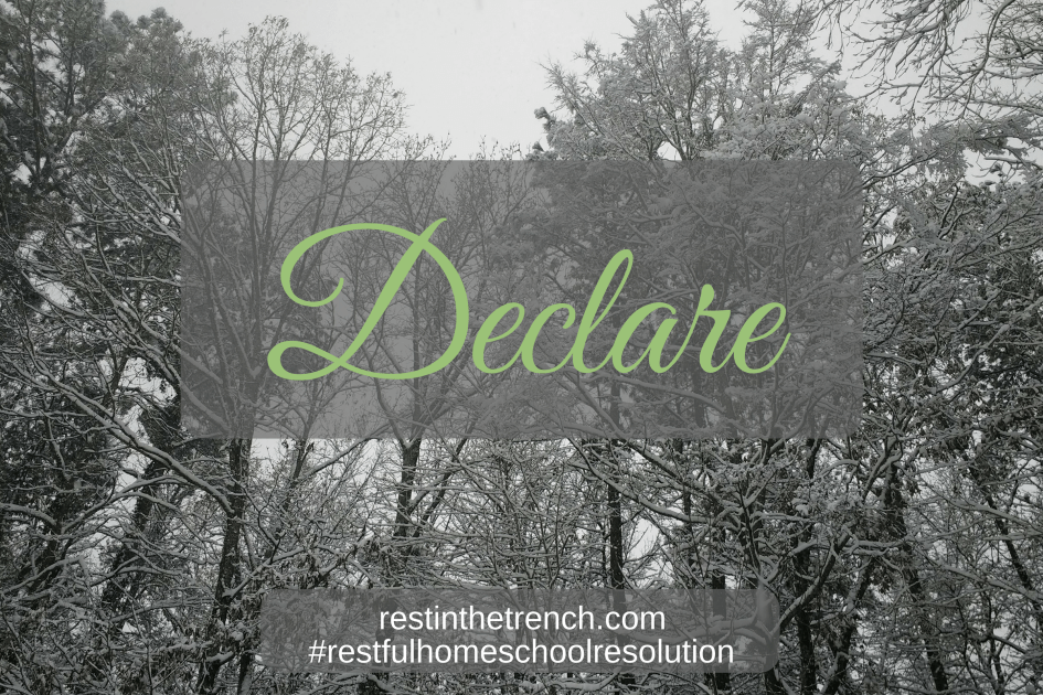 One step in your commitment to seek Jesus first for a restful homeschool