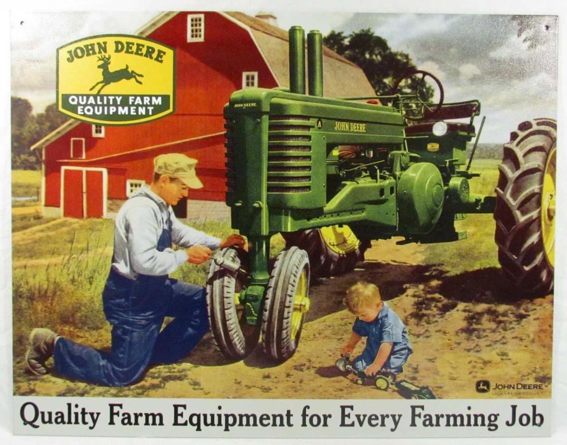 John Deere ad, 1940-55. Via Pinterest.