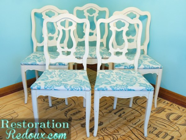 Turquoise and White Chair Transformation | #furniture #makeover #diy