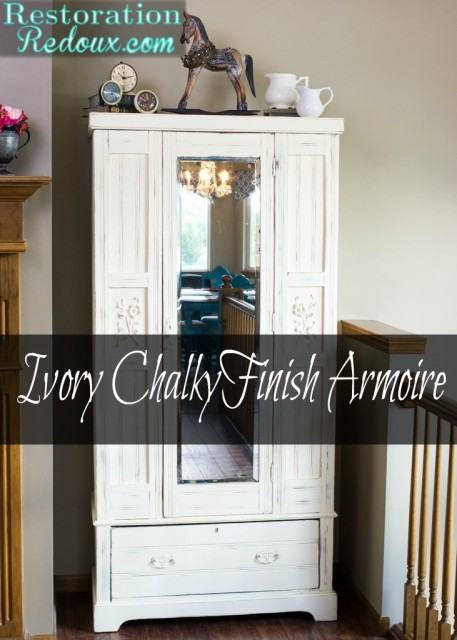 Chalky Finish Ivory Armoire
