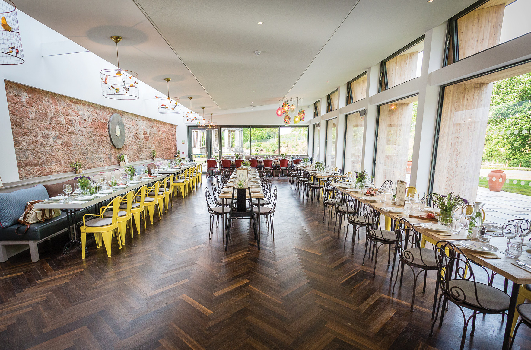 Private dining spaces at Restoration Yard