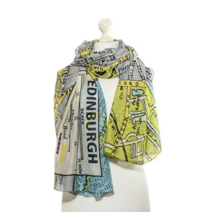 Edinburgh Map Scarf by One Hundred Stars