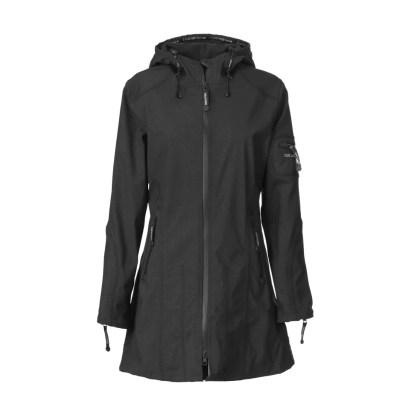 Raincoat in Black by Ilse Jacobsen