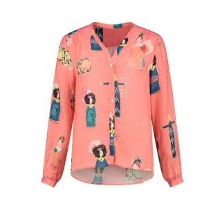 Lucky Charms Blouse coral