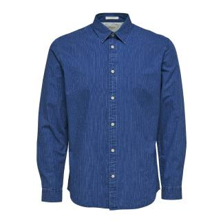 Nolan Shirt Blue Denim Stripes