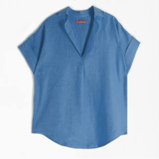Monica Top Ocean Blue by Vilagallo | Restoration Yard