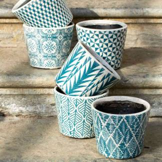 Dutch Pots Teal Assorted By Grand Illusions | Restoration Yard