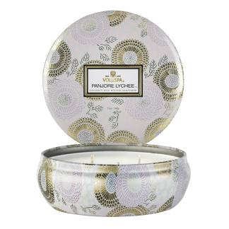 Panjore Lychee 3 Wick Tin Candle By Voluspa | Restoration Yard