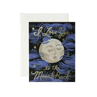 The Moon and Back Greeting Card by Rifle Paper | Restoration Yard