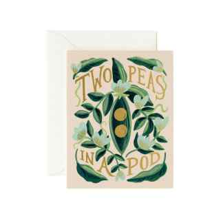 Two Peas In A Pod Greeting Card by Rifle Paper | Restoration Yard