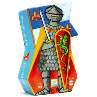 Djeco The Knight at the Dragon Puzzle 36 Pieces   Restoration Yard