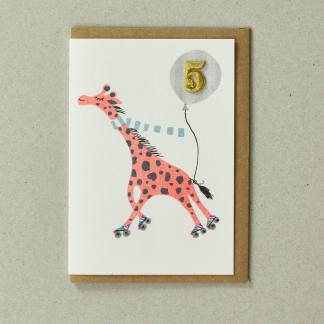 Giraffe Age 5 Greeting Card by Petra Boase | Restoration Yard