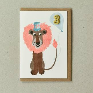Lion Age 3 Greeting Card by Petra Boase | Restoration Yard