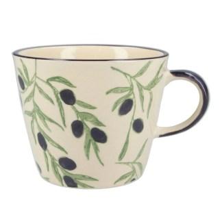 Ceramic Mug Olives by Gisela Graham | Restoration Yard